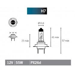 Lâmpada halógenio H7 12v 55w