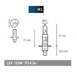 Lampada Halogenio H1 12V 55w