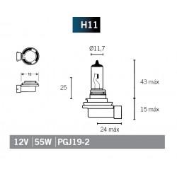 Lampada Halogenio H11
