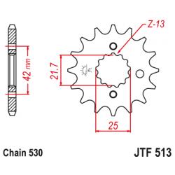 Pinhão de ataque JT 513 Aço...